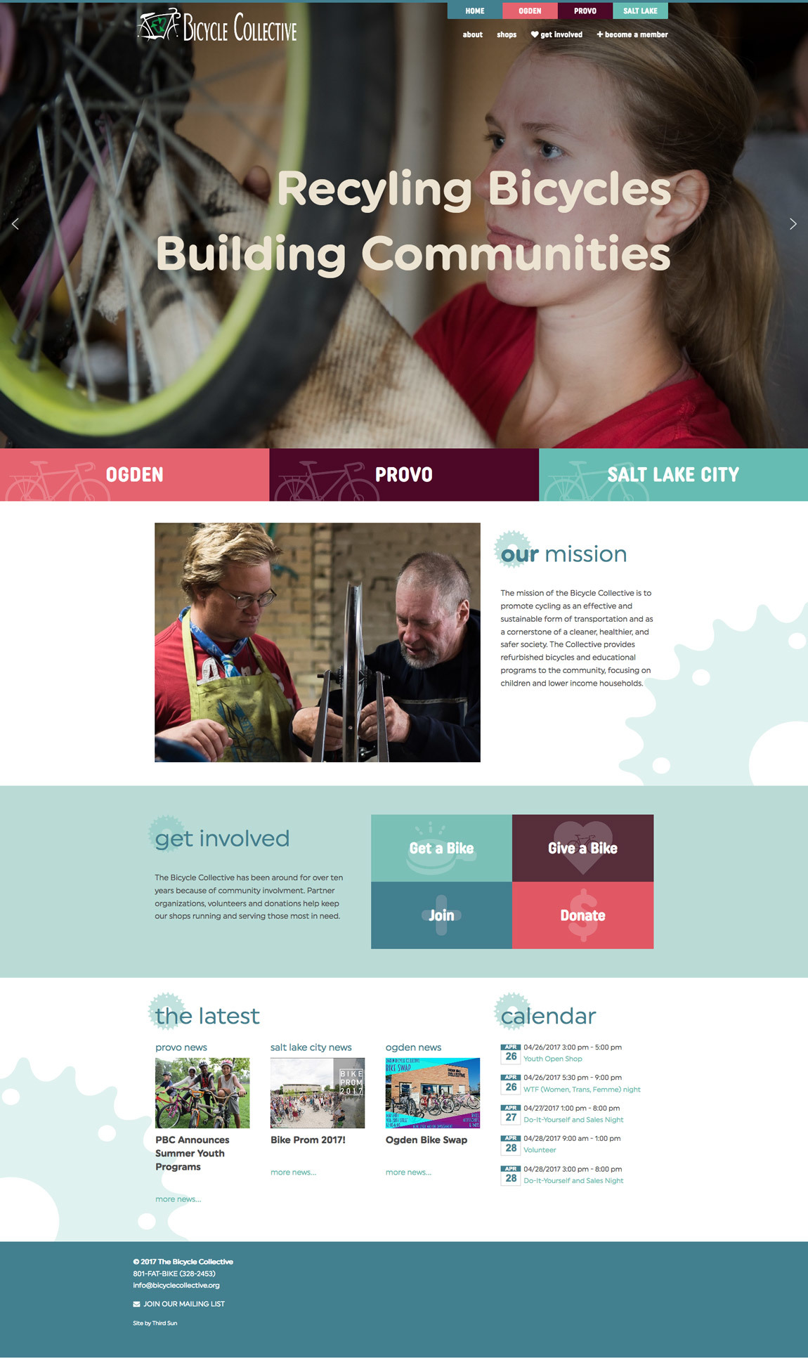 Bicycle Collective homepage 2