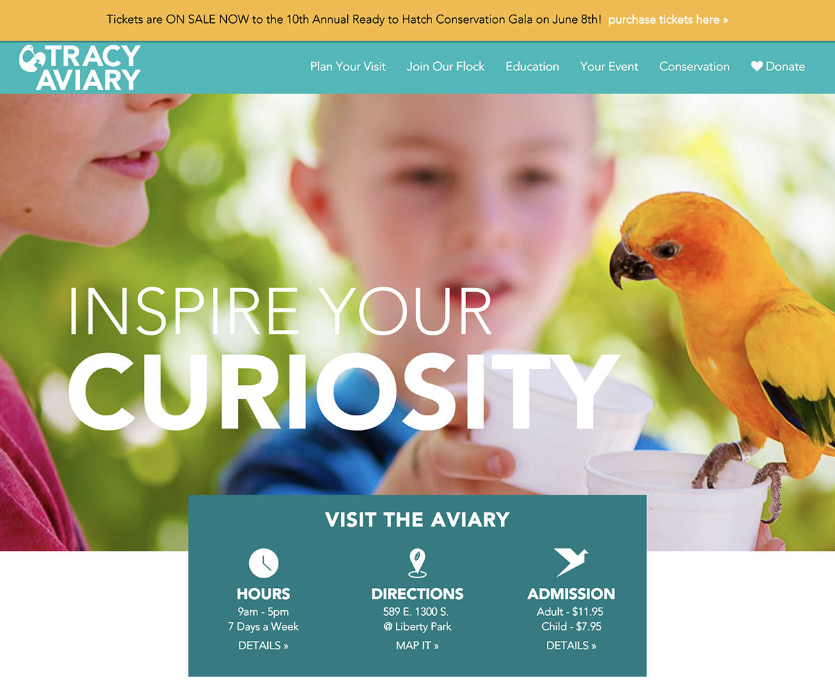 Tracy Aviary home enews