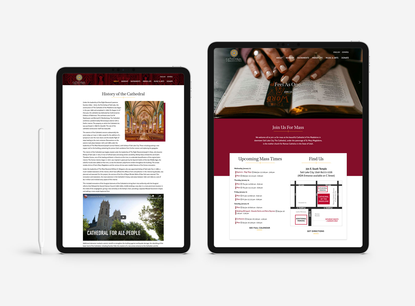 cathedral cropped iPad Pro Mockup