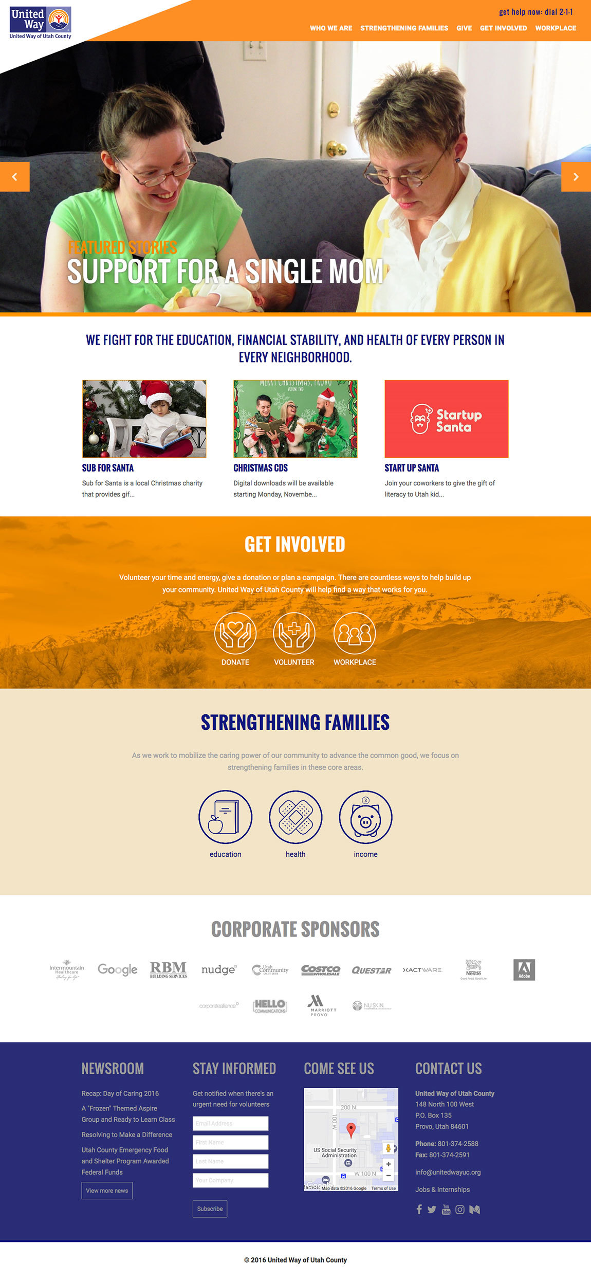 united way full homepage